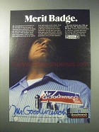 1986 Mr. Goodwrench Service Ad - Merit Badge