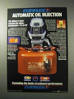 1986 Evinrude Outboard Motor Ad - Oil Injection