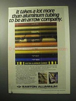 1986 Easton Aluminum Arrow Shafts Ad - More Tubing