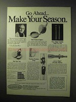 1986 Saunders Archery Ad - Go Ahead Make Your Season