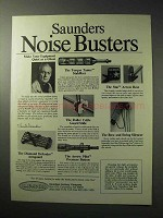 1986 Saunders Archery Ad - Noise Busters