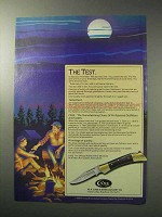 1986 Case Shark Tooth Knife Ad - The Test