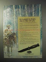1986 Case Outlander Knife Ad - A Way of Life