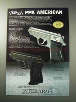 1986 Interarms Walther PPK Pistol Ad