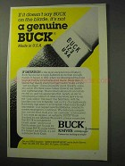 1986 Buck Knives Model 123 Knife Ad - A Genuine Buck