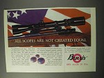 1986 Burris Scopes Ad - Are Not Created Equal