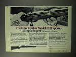 1986 Kimber Model 82 B Sporter Rifle Ad - Simply Superb