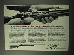 1986 Kimber Model 84 Rifle Ad - For .222 Cartridges