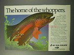 1986 Air New Zealand Airlines Ad - Home of Whoppers