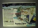 1986 Eureka! StormShield Tents Ad - A Dry Place
