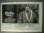 1986 Otello Opera Ad - Placido Domingo