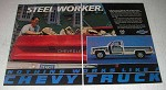 1986 Chevy Pickup Truck Ad - Steel Worker