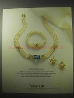 1985 Tiffany & Co. Pearls Ad - Strands of Harmony