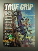 1985 Kelly Tires Safari Light Truck Tire Ad - True Grip