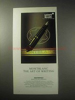 1985 Montblanc Meisterstuck Pen Ad - Art of Writing