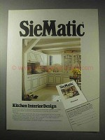 1985 SieMatic 1001 AKL Cabinets Ad - Kitchen Design
