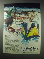 1985 Eureka Stormshield Tent Ad - Wet and Windy World