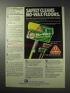 1985 O-Cedar No-Wax Power Strip Mop Ad - Safely