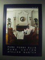 1985 Perry Ellis Atelier Martex Morning Star Linens Ad