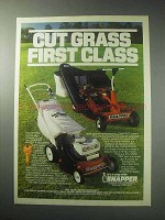 1985 Snapper Hi-Vac Lawn Mower Ad - Cut First Class