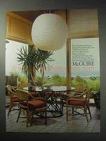 1985 McGuire Palasan Collection Furniture Ad