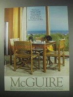 1985 McGuire Furniture Advertisement