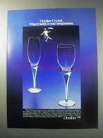 1985 Orrefors Intermezzo Collection Crystal Ad