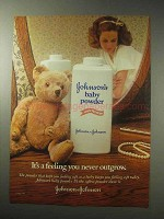 1985 Johnson's Baby Powder Ad - You Never Outgrow