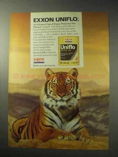 1985 Exxon Uniflo Motor Oil Ad