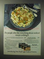 1985 Mrs. Paul's Light Seafood Entrees Ad!