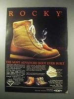 1985 Rocky Boots Ad - Most Advanced Boot Ever Built