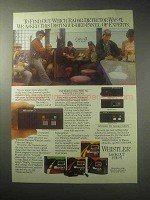 1985 Whistler Radar Detector Ad - Distinguished Panel
