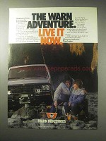 1985 Warn Winches Ad - The Adventure Live It Now