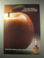 1985 DeKuyper Apple Barrel Schnapps Ad - Crisp, Juicy