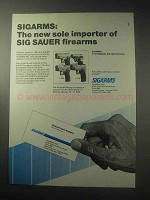 1985 Sigarms Sauer Pistols Ad