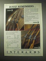 1985 Rossi Firearms Ad - M59, M62 Rifle, M62 Carbine