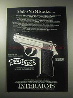 1985 Walther PPK/S American Pistol Ad - Make no Mistake