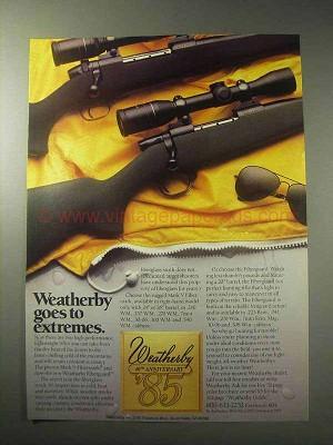 1985 weatherby mark v fibermark fiberguard rifles ad