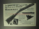 1985 Thompson / Center Arms Cherokee Rifle Ad
