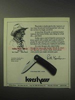 1985 Kershaw D.W.O. Model 3000 Knife Ad