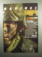 1989 U.S. Marines Ad - Courage It Runs Deep