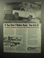 1989 Crane Cams Ad - Don't Make Dust, You Eat It