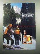 1989 Budweiser Beer Ad - For Every Deer Hunter