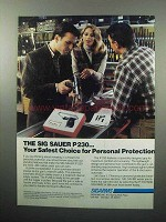 1989 Sigarms Sig Sauer P 230 Pistol Ad - Protection