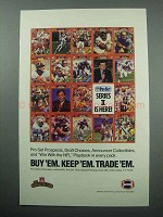 1989 NFL Pro Set Series II Cards Ad - Buy 'Em Keep 'Em