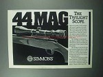 1989 Simmons 44 Mag Scope Ad - The Twilight Scope
