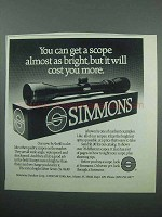 1989 Simmons Scopes Ad - Almost As Bright