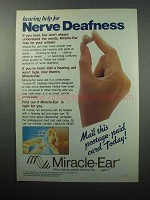 1988 Miracle-Ear Hearing Aid Ad - Nerve Deafness