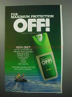 1988 Off! Insect Repellent Ad - Maximum Protection