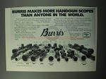 1988 Burris Handgun Scopes Ad - Makes More